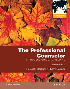 Cover of The Professional Counselor: A Process Guide to Helping