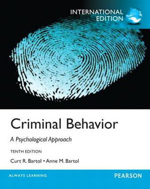 Cover of Criminal Behavior Pearson International Edition
