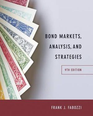 Cover of Bond Markets, Analysis, and Strategies