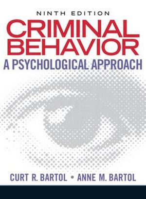 Cover of Criminal Behavior: A Psychological Approach