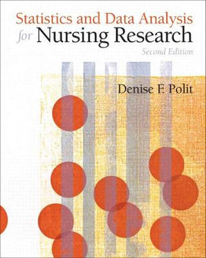 Cover of Statistics and Data Analysis for Nursing Research