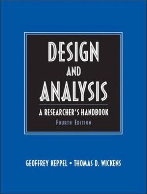 Cover of Design and Analysis