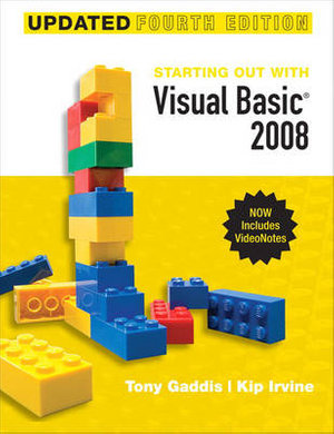 Cover of Starting Out with Visual Basic 2008