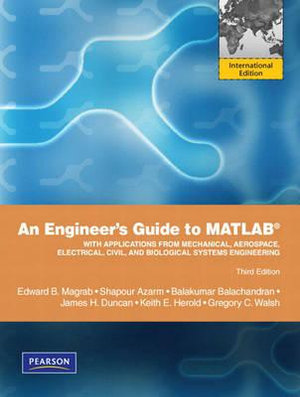 Cover of An Engineer's Guide to MATLAB