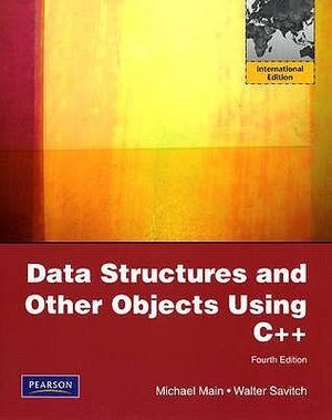 Cover of Data Structures and Other Objects Using C++