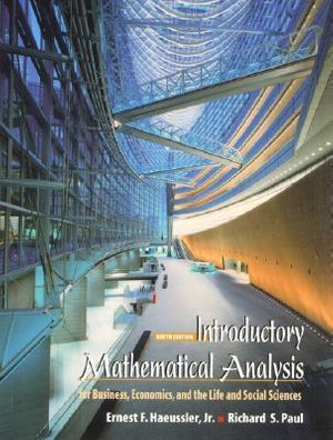 Cover of Introductory mathematical analysis for business, economics, and the life and social sciences