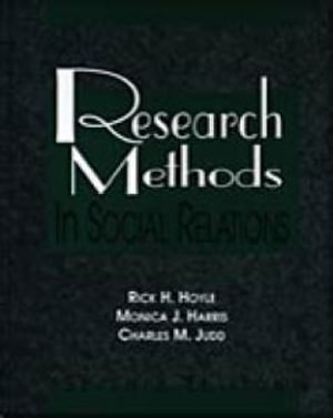 Cover of Research Methods in Social Relations