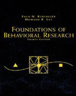 Cover of Foundations of Behavioral Research
