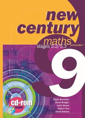 Cover of New Century Maths 9, 5.2/5.3  : Student Book with CD