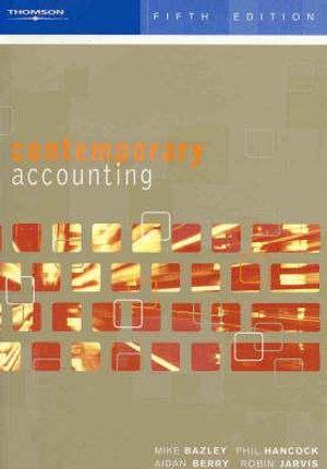 Cover of Contemp Acctg Conceptual Appr