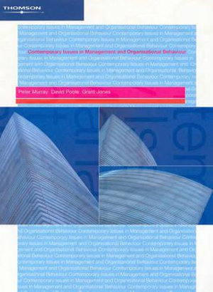 Cover of Contemporary Issues in Management and Organisational Behaviour