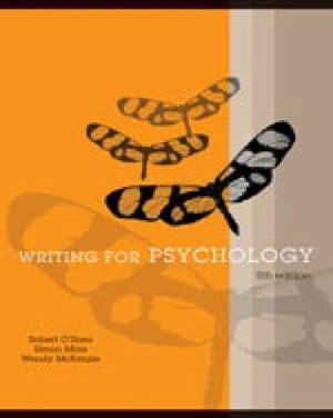 Cover of Writing for Psychology with Infotrac