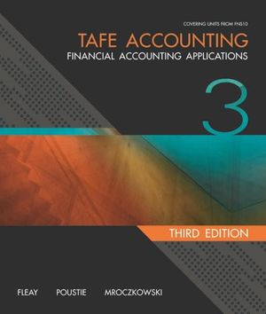 Cover of TAFE Accounting: Financial Accounting Applications + Workbook Student  Pack