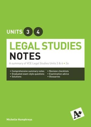 Cover of Legal Notes VCE Units 3 & 4
