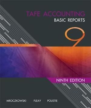 Cover of TAFE Accounting : Basic Reports
