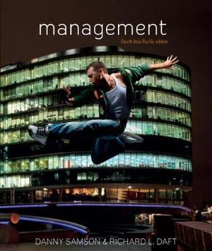 Cover of Management : fourth Asia Pacific Edition