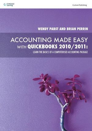 Cover of PP0653 Accounting made easy with QuickBooks 2010/2011 : Learn the  basics of a computerised accounting package