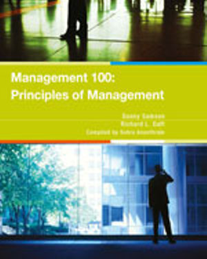 Cover of CP0695 Management 100: Principles of Management