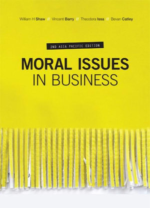 Cover of Moral Issues in Business with Student Resource Access 12 Months