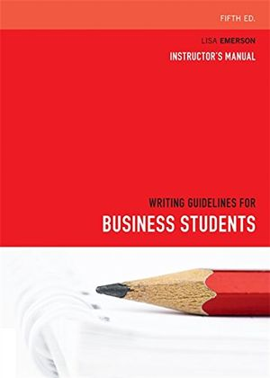 Cover of Writing Guidelines for Business Students