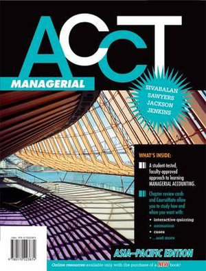 Cover of ACCT Managerial: Asia-Pacific Edition