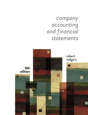 Cover of Company Accounting and Financial Statements