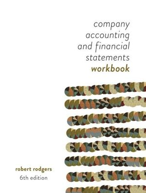 Cover of Company Accounting and Financial Statements : Australia New Zealand Edition - Workbook