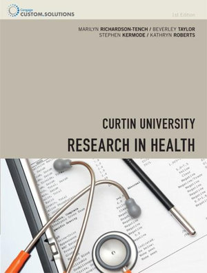 Cover of CP0861 - Research in Health with Student Access 12 Months