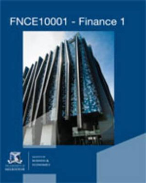 Cover of CP0894 FNCE10001 - Finance 1