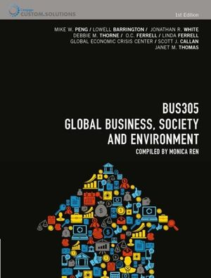 Cover of CP0903 - BUS305 Global Business, Society and Environment