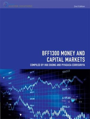 Cover of BFF1300 Money and Capital Markets for Monash University