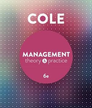 Cover of Management Theory and Practice