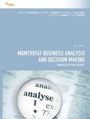 Cover of Business Analysis and Decision Making