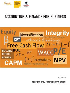 Cover of Accounting & Finance for Business for La Trobe University