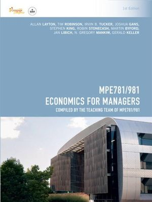 Cover of MPE781/981 Economics for Managers for Deakin University