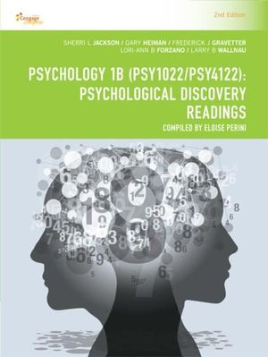 Cover of CP1115: Psychology 1B (PSY1022/PSY4122)