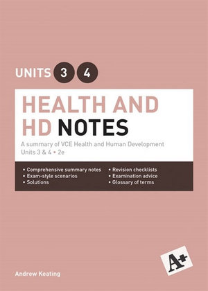 Cover of A+ Health and Human Development Notes