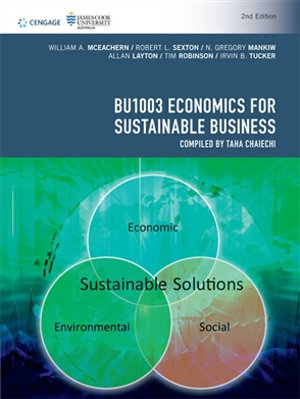Cover of BU1003 Economics for Sustainable Business