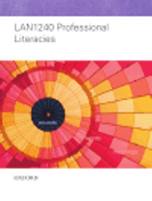 Cover of LAN1240 Professional Literacies