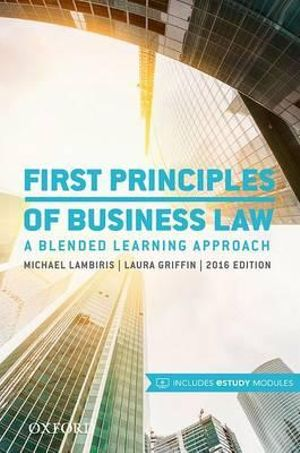 Cover of First Principles of Business Law 2016
