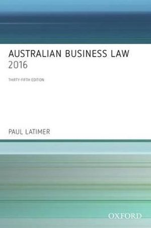 Cover of Australian Business Law 2016