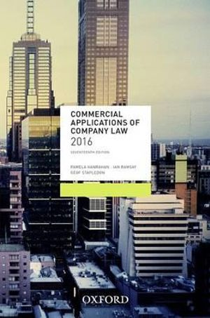 Cover of Commercial Applications of Company Law 2016