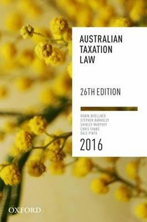 Cover of Australian Taxation Law 2016