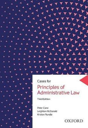Cover of Cases for Principles of Administrative Law