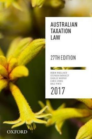 Cover of Australian Taxation Law 2017
