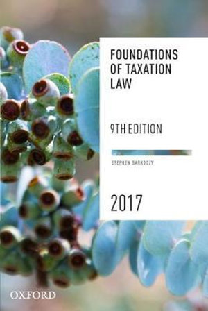 Cover of Foundations of Taxation Law 2017