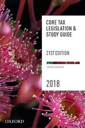 Cover of Core Tax Legislation and Study Guide