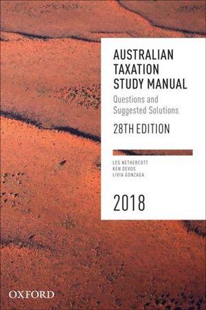 Cover of Australian Taxation Study Manual 28e 2018