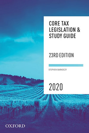 Cover of Core Tax Legislation and Study Guide 2020