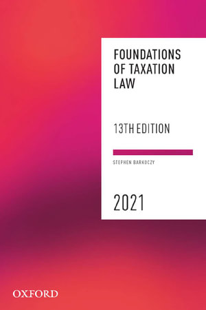 Cover of Foundations of Taxation Law 2021